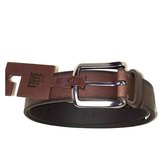 Frye Other - Frye NWT JONES Leather Belt Brown/Burnished Edges